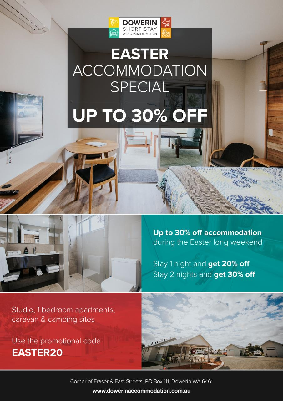 Short Stay Accommodation Easter Specials